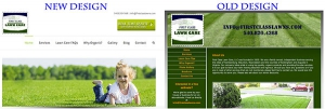 first class lawn care - new site design
